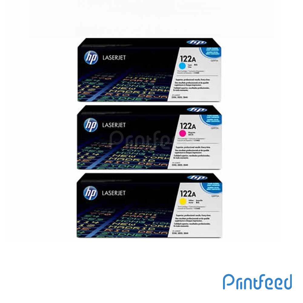 HP 122A 3 Color Laserjet cartridge Pack