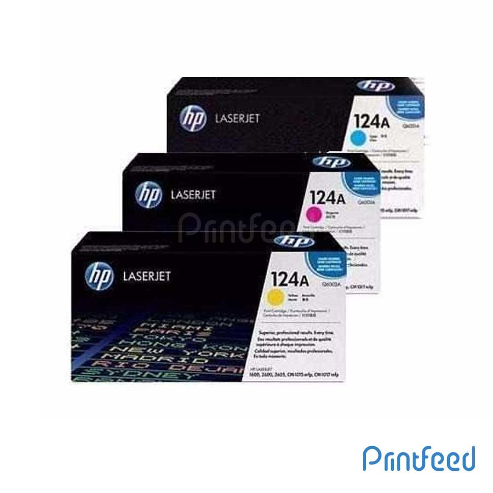 HP 124A 3 Color Laserjet cartridge Pack