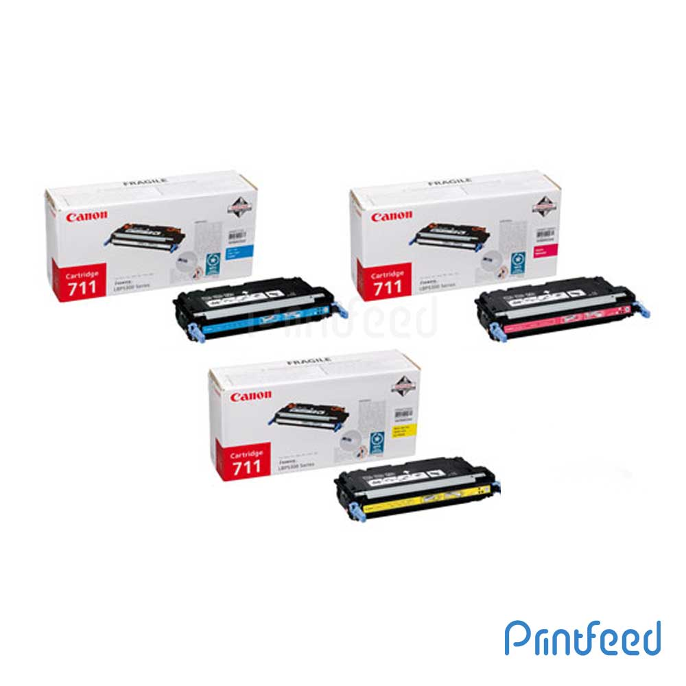 Canon 711 3 Color Toner Cartridge Pack