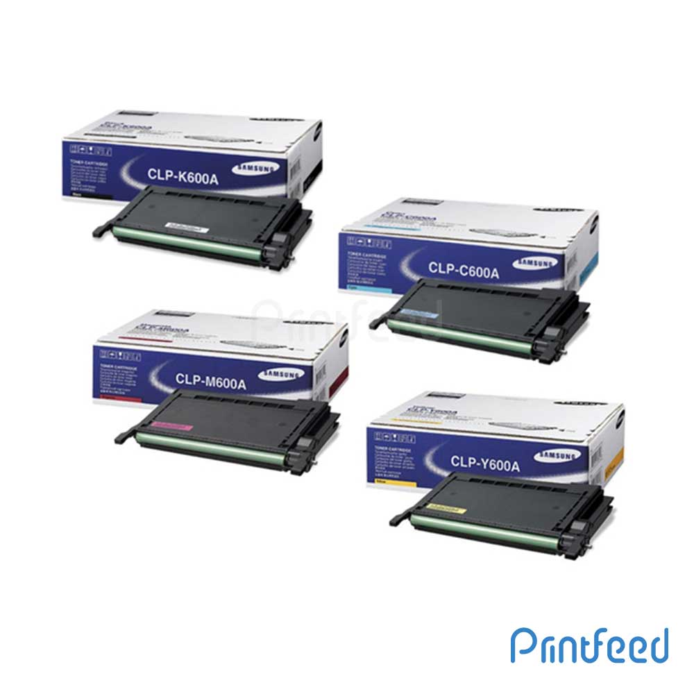 Samsung CLP-600A 4 Color Toner Cartridge Pack