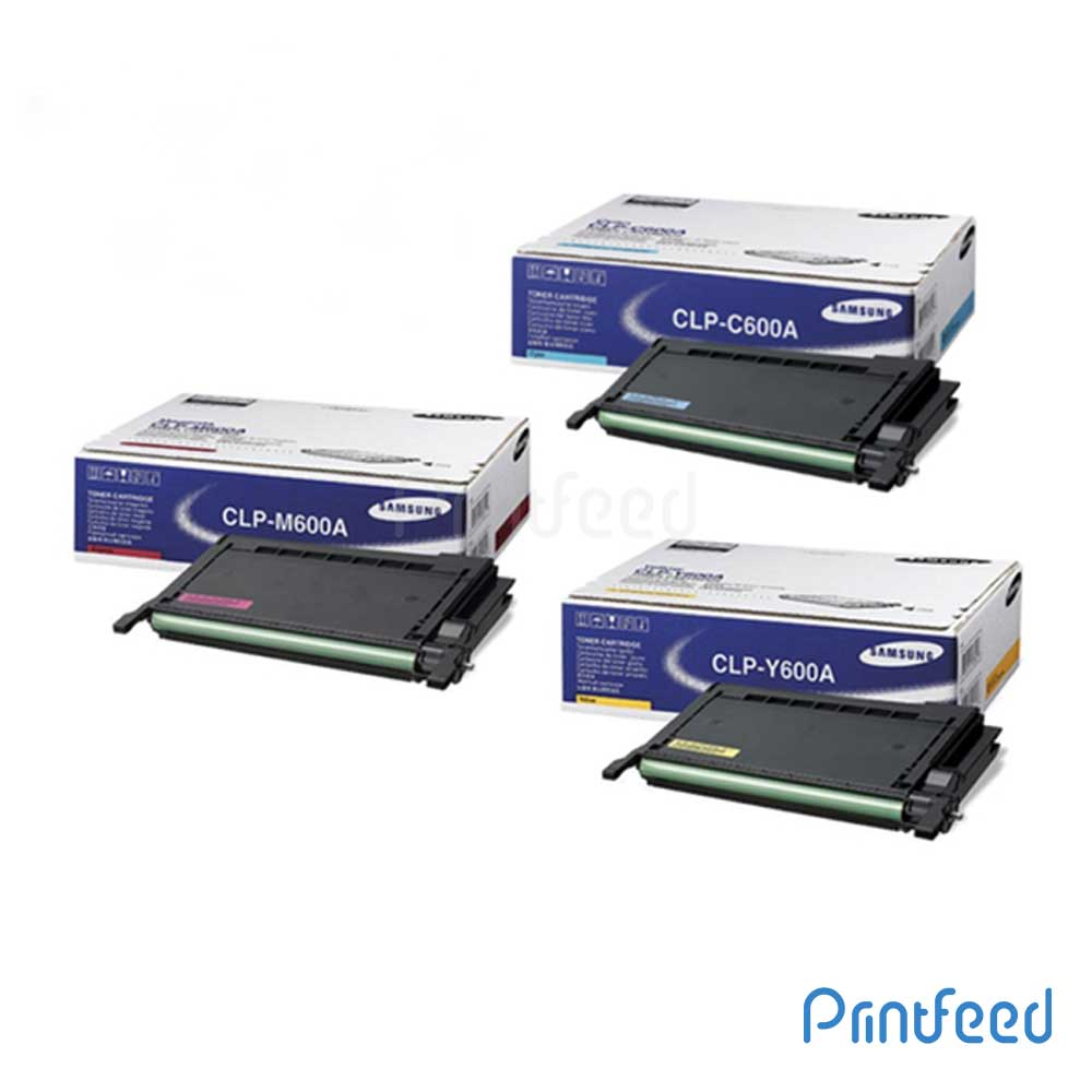 Samsung CLP-600A 3 Color Toner Cartridge Pack