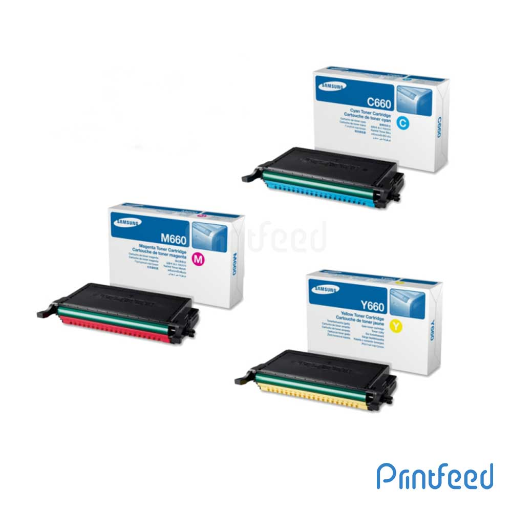 Samsung CLP-660A 3 Color Toner Cartridge Pack