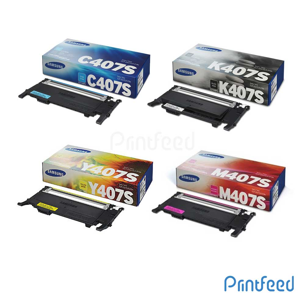 Samsung CLT-407S 4 Color Toner Cartridge Pack