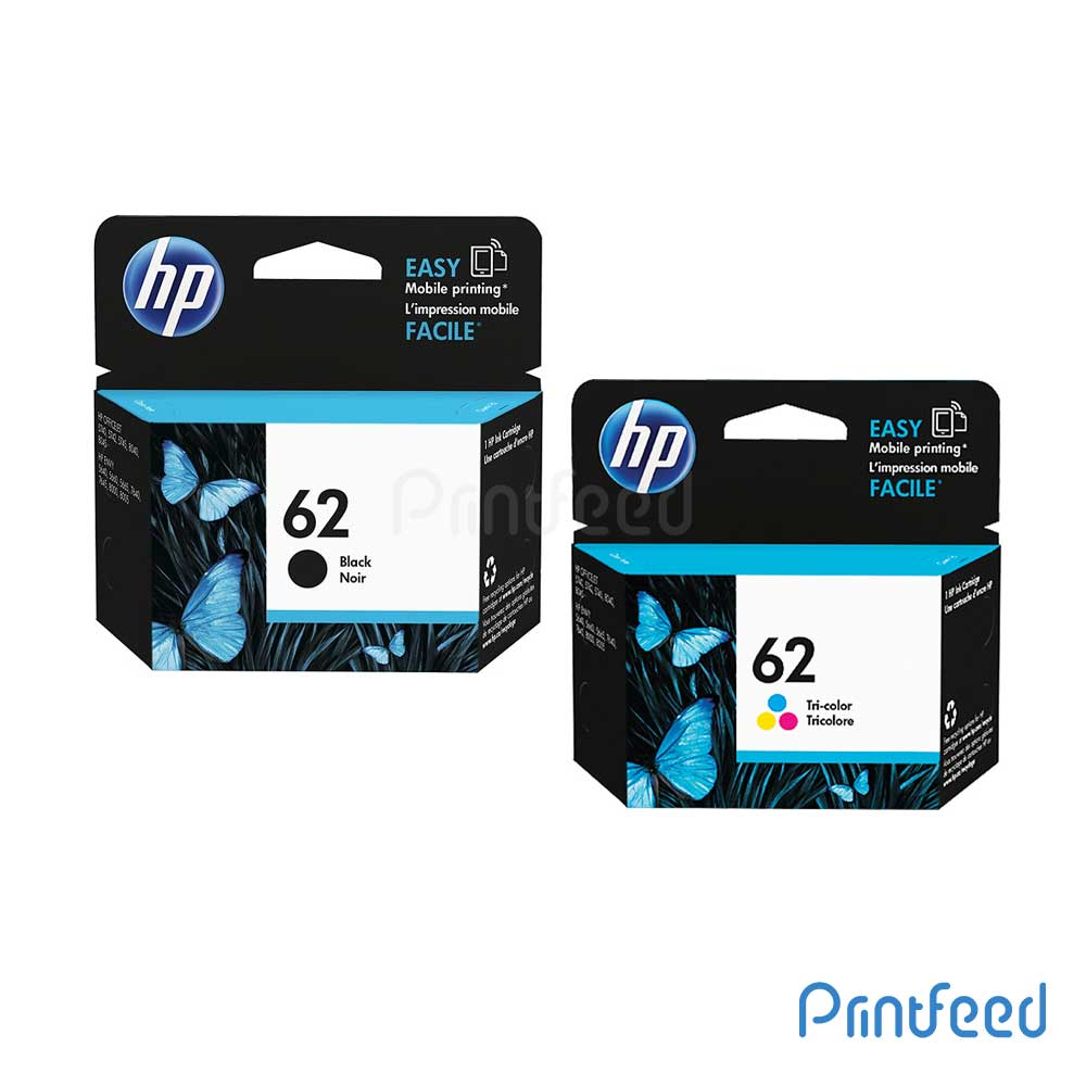 HP 62 Black & Tri-color Ink Cartridge Pack