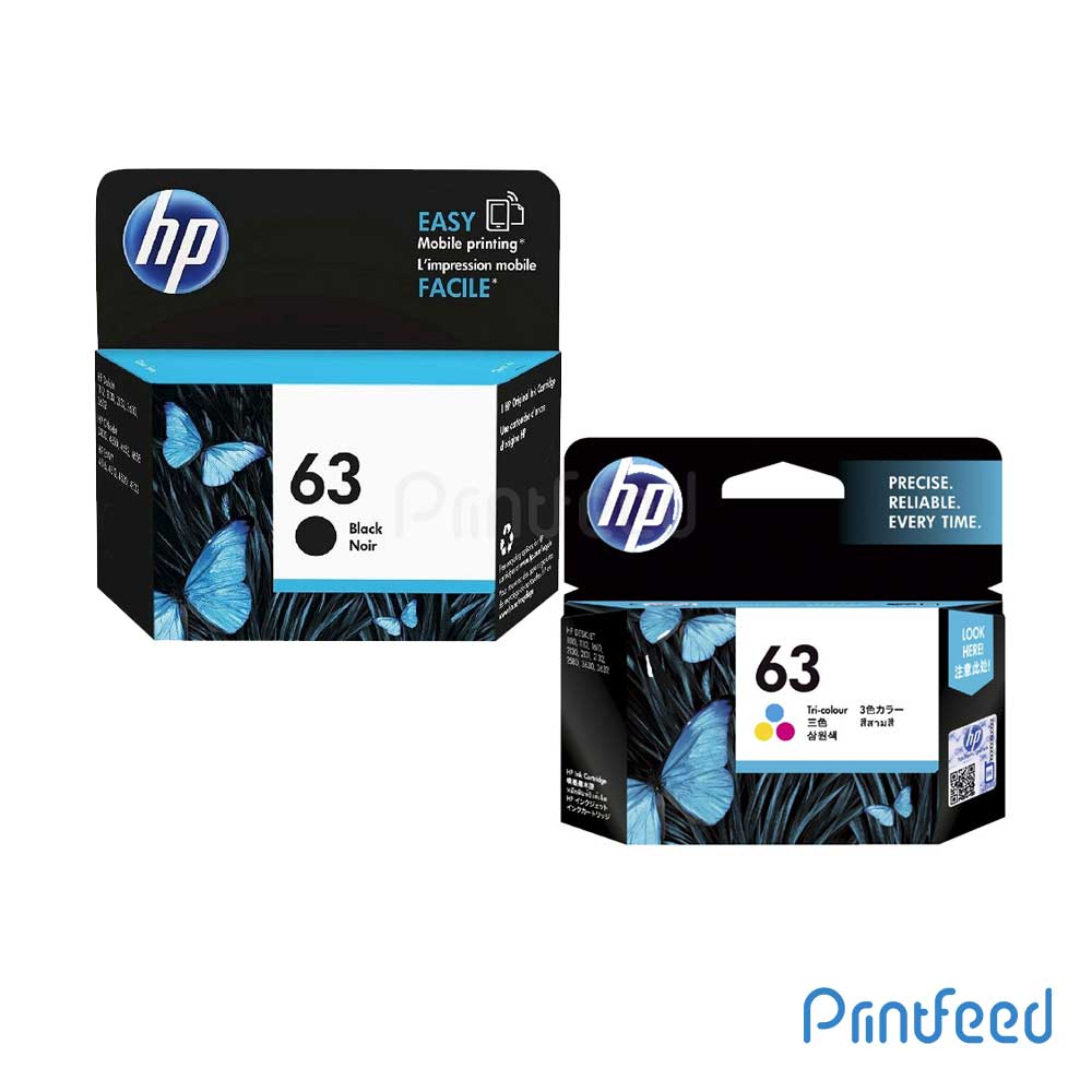 HP 63 Black & Tri-color Inkjet Print Cartridge Pack