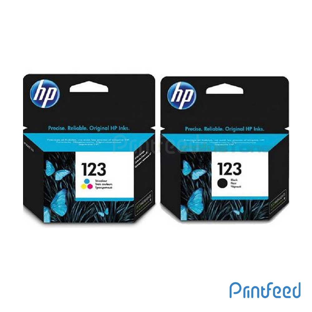HP 123 Black & Tri-color Ink Cartridge Pack