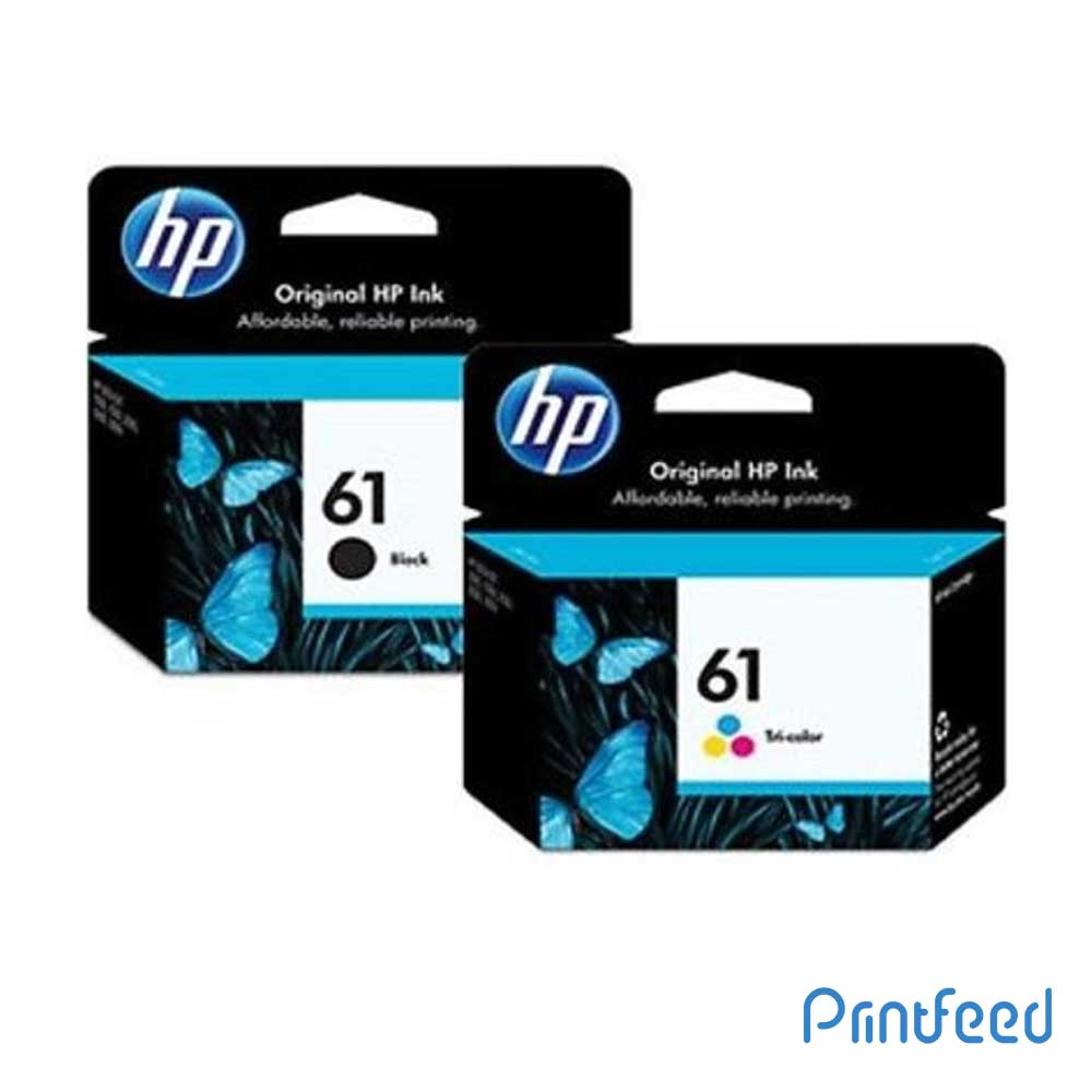 HP 61 Black & Tri-Color Inkjet Cartridge Pack