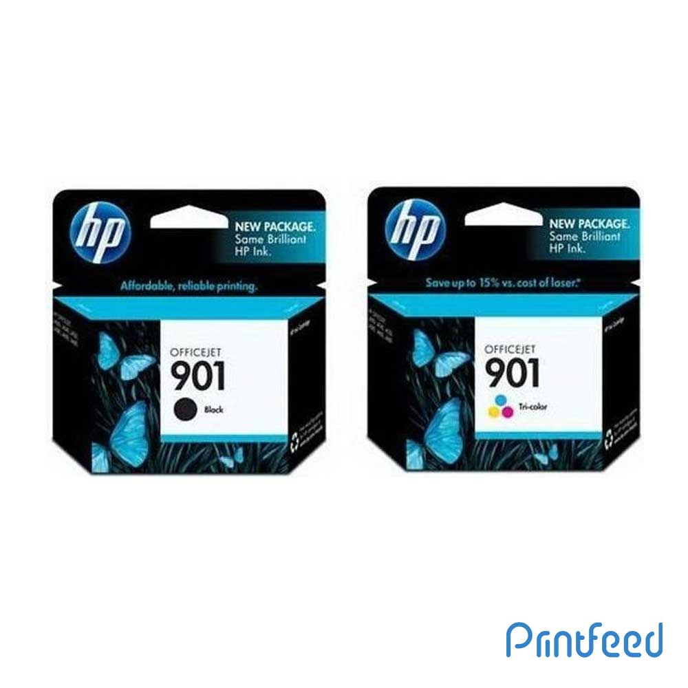 HP 901 Black & Tri-color Inkjet Print Cartridge Pack