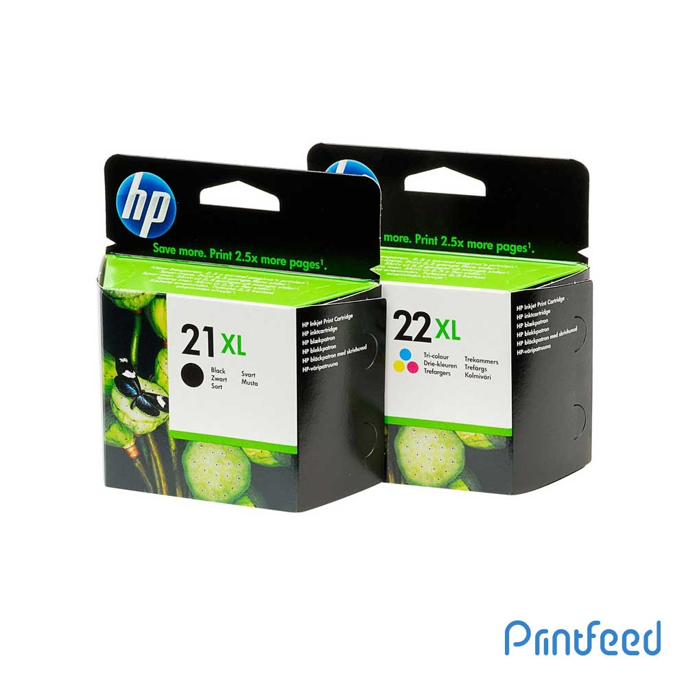 HP 21XL / 22XL Inkjet Print Cartridge Pack