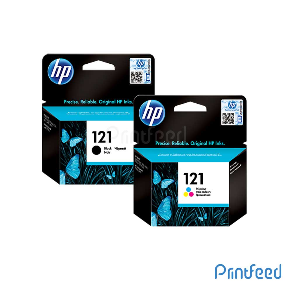 HP 121 Black & Tri-color Inkjet Print Cartridge Pack