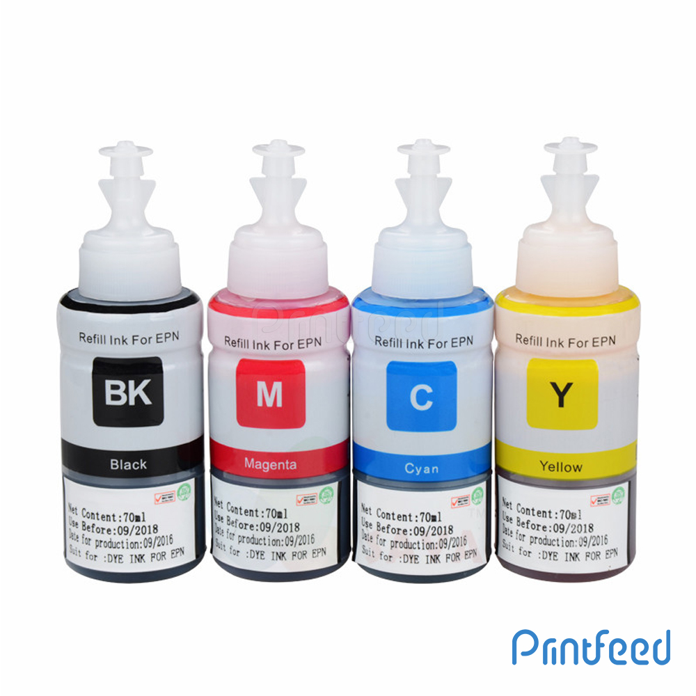 Epson T664 4 Color Ink BOTTLE 70ML Pack