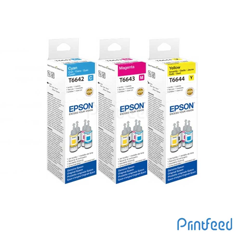 Epson T664 3 Color Ink BOTTLE 70ML Pack