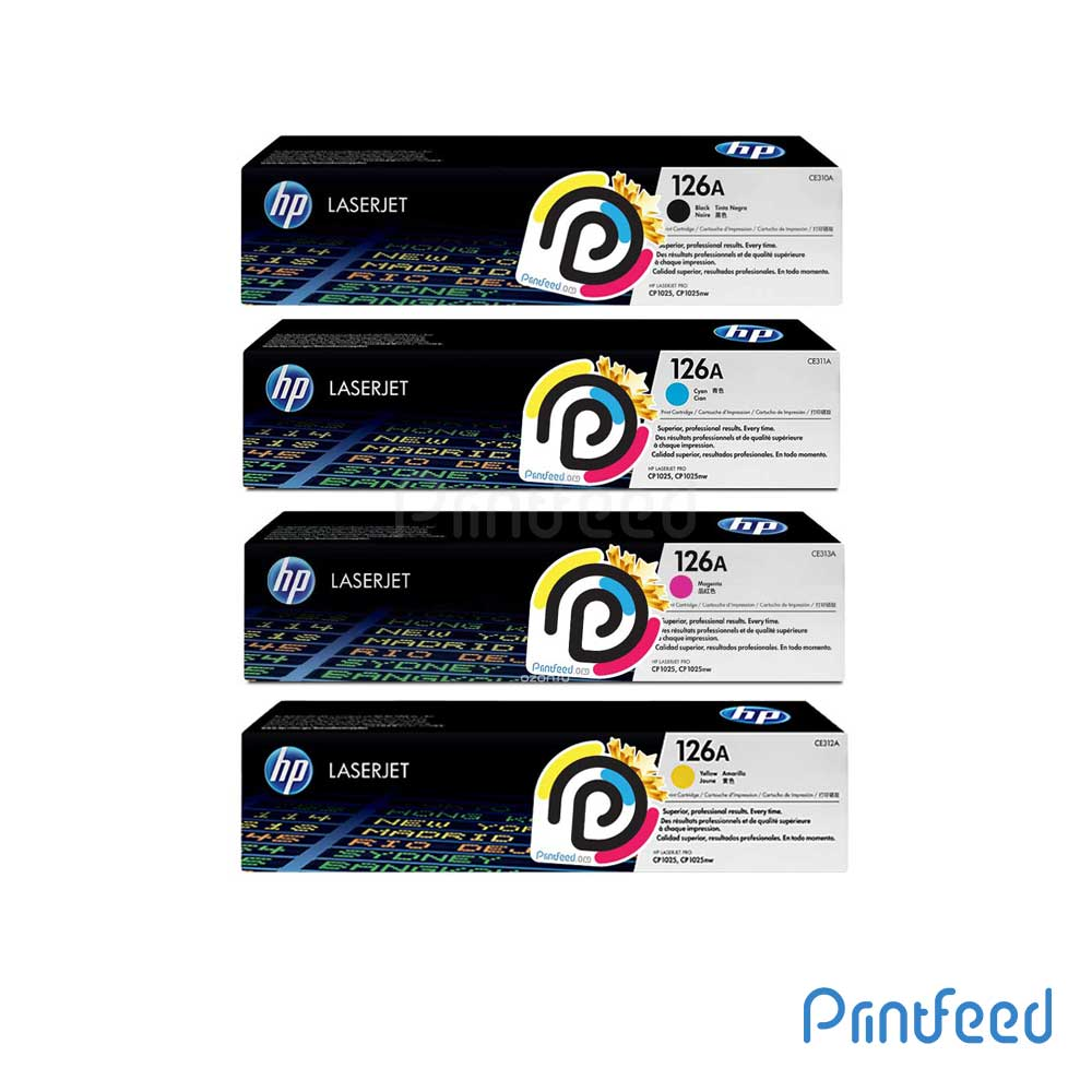 HP 126A 4 Color Laserjet Compatible Cartridge Pack