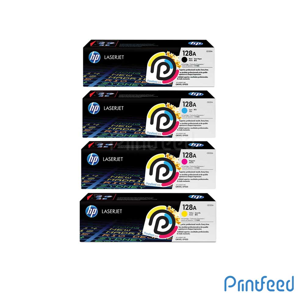 HP 128A 4 Color Laserjet Compatible Cartridge Pack