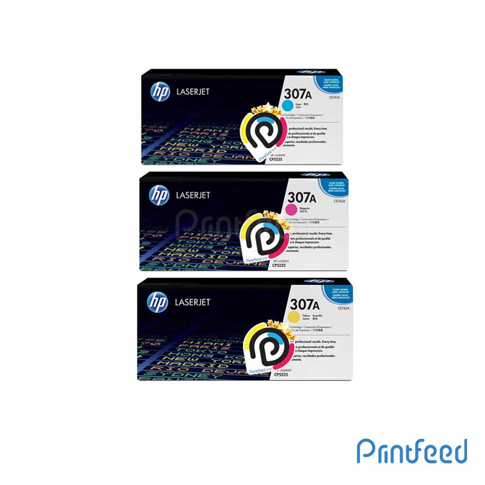HP 307A 3 Color Laserjet Compatible Cartridge Pack