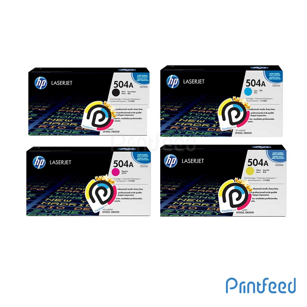 HP 504A 4 Color Laserjet Compatible Cartridge Pack
