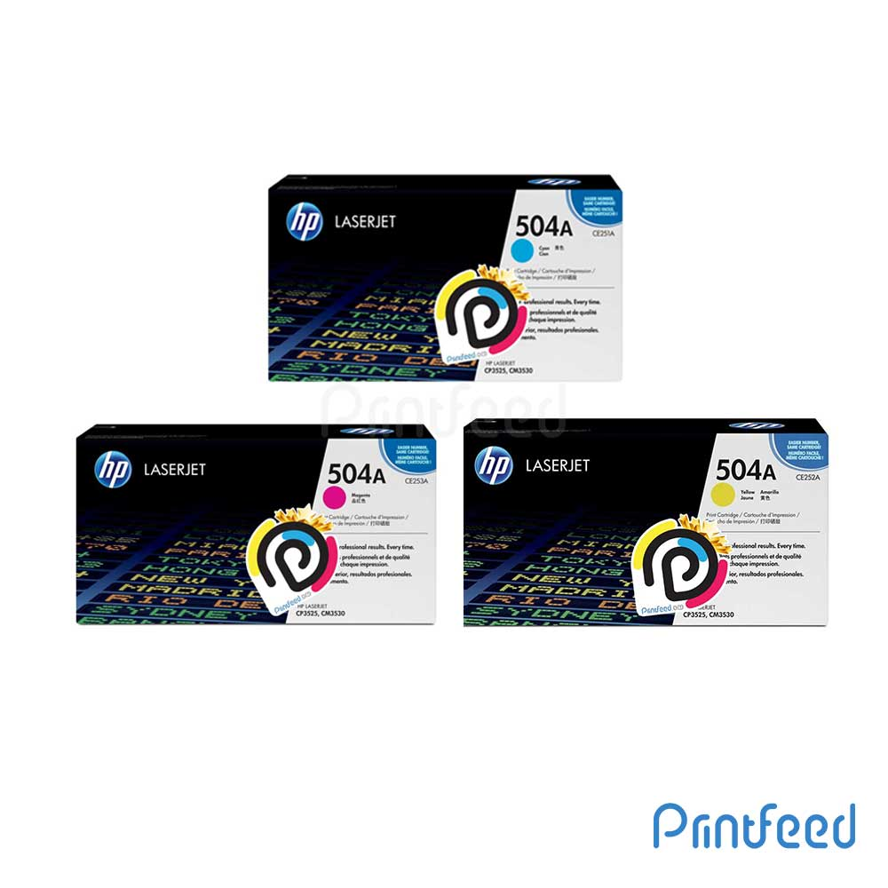 HP 504A 3 Color Laserjet Compatible Cartridge Pack