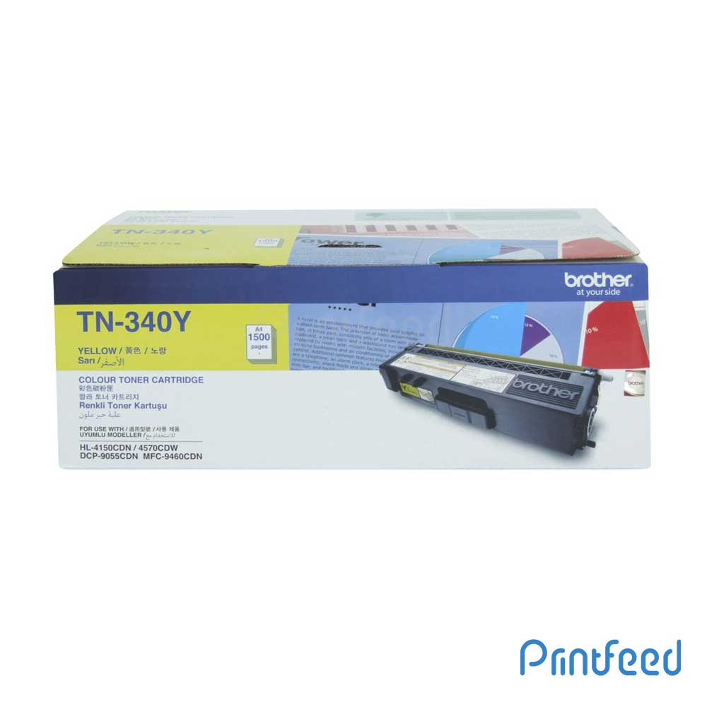 Brother TN-340 Yellow Laser Toner Cartridge