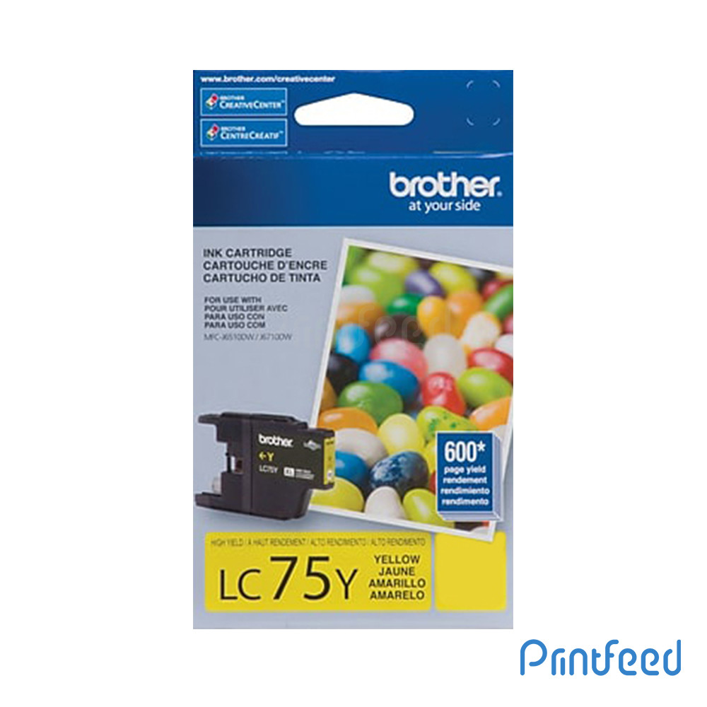 Brother LC-75 Yellow Ink Cartridge