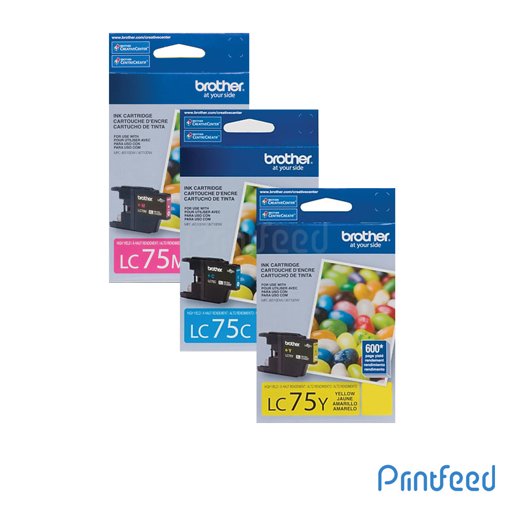 Brother LC-75 3 Color Ink Cartridge Pack