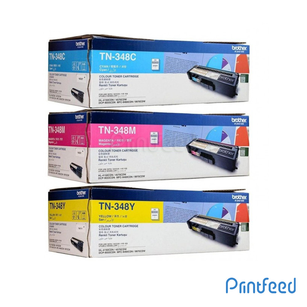 Brother TN-348 3 Color Laser Cartridge Pack